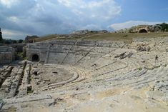 O maravilhoso Teatro Grego de Siracusa.
