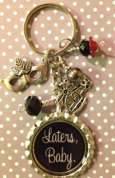 haha love it! Laters Baby key chain inspired by the book by Bottlecapbling101, $12.00