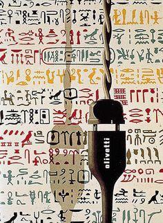Olivetti Advert - Giovanni Pintori, 1958