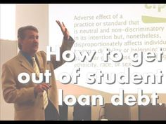 How to get out of student loan debt. I had the opportunity to speak at Eastern Michigan University to a group of graduate students. In the video I cover how to get out of student loan debt. what is better credit Freeze vs fraud alert. CFPB Disparate impact and credit scores Your medical FICO Score. Will you get the death panel?