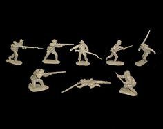Confederate Infantry 16 figures in 8 poses (gray) (54mm) , 54mm Toy Soldiers+Civil War Figures (54mm) Manufacturers 54mm+Classic Toy Soldiers (CTS) Plastic Army Men