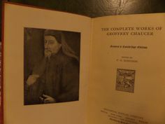 Complete Poetical Works of Chaucer 1933 by SomethingGeeshy on Etsy