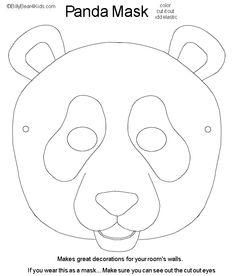 Carnaval masks on pinterest masks animal masks and fox mask for Panda bear cake template
