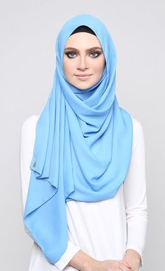 Georgette | Azure Blue  http://www.lissomecollection.co.uk/Georgette-hijab-black