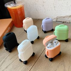 Buy Suitcase AirPods Case to protect your AirPods from impact and scratches. Shop for unique gifts and AirPods cases at the Apollo Box. Cute Ipod Cases, Iphone Cases, Toy Iphone, Cute Headphones, Cute Suitcases, Bluetooth Wireless Earphones, Apollo Box, Apple Airpods 2, Accessoires Iphone