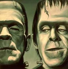 Lol hahah love it! Frankenstein and Herman Munster Horror Movie Characters, Horror Films, Horror Art, Jasper Johns, Roy Lichtenstein, Beetlejuice, Andy Warhol, Dali, Richard Hamilton