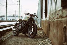 Custom Bikes, Classic Motorcycles, Cafe Racer Dreams and Mean Machines. We create Unique Bikes. Honda Scrambler, Yamaha, Motorcycle Companies, Cafe Racer, Custom Bikes, Heavy Metal, Boxer, Design, Graz