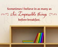 Wall Quote Decal Sticker Vinyl Art Lettering Alice in Wonderland Disney B88