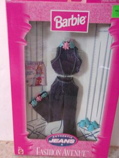 Vintage Barbie Fashion Avenue Jeans Mint In Package Unopened