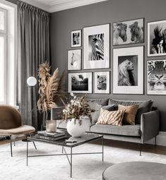 Gallery Wall Inspiration - Shop your Gallery Wall Bedroom Decor For Small Rooms, Living Room Decor Cozy, Home Living Room, Interior Design Living Room, Living Room Designs, Inspiration Wall, Living Room Inspiration, Black And White Living Room, Gallery Wall