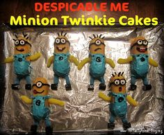 Dispicable Me Minions! Made out of TWINKIES ;) they are 2 CUTE 2 eat <3