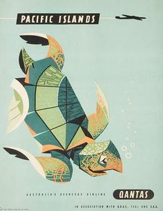 Qantas Travel Posters by William F. Schey/Harry Rogers (1950s-1960s)