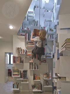 modern swing great library 20 Creative Home Library Designs