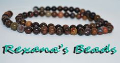 """16"""" Strand Chinese Writing Stone 6mm Round. Starting at $4 on Tophatter.com!"""