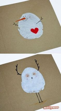 Christmas card 2014 (fingerprints instead of potato print) - Weihnachtskarten basteln - Hal Craft Christmas Cards To Make, Christmas Crafts For Kids, Homemade Christmas, Christmas Art, Holiday Crafts, Christmas Holidays, Christmas Gifts, Christmas Decorations, Beautiful Christmas