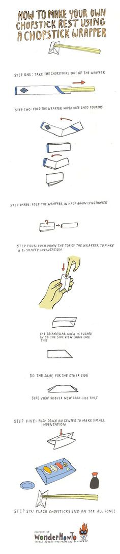 How To Make Your Own Chopstick Rest Using A Chopstick Wrapper « The Secret Yumiverse