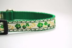 Floral Green Pet Dog Cat Collar Leash Set by GoodLifePetSupply