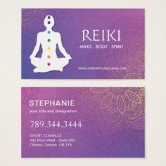 Shop Yoga and Reiki Business Cards created by colourfuldesigns. Reiki Healer, Reiki Practitioner, Reiki Energy, Chakra Balancing, Yoga Meditation, Business Cards, Graphic Design, Yoga, Business Card Design