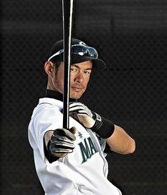 Mariners outfielder Ichiro Suzuki poses during a spring training photo shoot on March 15, 2010, in Peoria, AZ.  The 2001 Rookie of the Year, AL MVP, and 10-time all-star celebrates his 40th birthday today (Oct. 22). (Peter Read Miller/SI) GALLERY: Classic Photos of Ichiro Suzuki