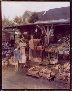 Roadside produce stand, ca. 1930