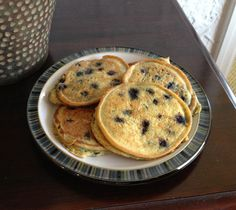 Quinoa Flour Blueberry Pancakes: yummy! Used quinoa flakes instead since I didn't have quinoa flour, added 1tsp cinnamon, and left out the blueberries in the batter.