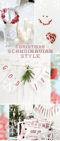 Scandinavian Christmas - love the wreath Norwegian Christmas, Danish Christmas, Scandi Christmas, Merry Little Christmas, Christmas Love, Christmas Holidays, Christmas Crafts, Vintage Christmas, Christmas Decorations