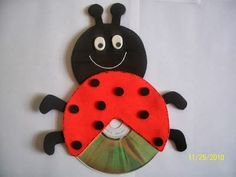 Cd craft idea for kids cd lady bug craft Crafts With Cds, Kids Crafts, Old Cd Crafts, Duck Crafts, Daycare Crafts, Animal Crafts, Preschool Activities, Diy And Crafts, Paper Crafts
