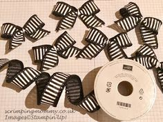 scrimpingmommy: Christmas crafts mini wired ribbon bows in minutes...