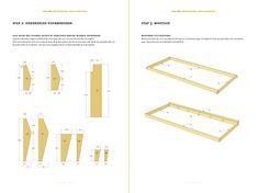 Werktekening bouwtekening Tafel, picknicktafel 'Ordesa'