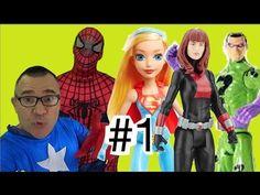 #1 Homem Aranha Capitão América Supergirl DC Super Hero Girls  Viúva Neg...