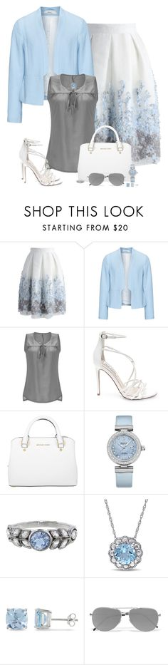 """""""Sunday's Best"""" by laaudra-rasco ❤ liked on Polyvore featuring Chicwish, Zizzi, Steve Madden, Michael Kors, OMEGA, Cathy Waterman, Ice and Yves Saint Laurent"""