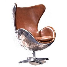Amazing Leather jump seat Chair Old vintage cigar brown office desk comfort aluminum back. Description from ebay.com. I searched for this on bing.com/images
