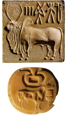 Seals from Harappa, Punjab, Pakistan. Archaeological site, Indus Valley Civilization