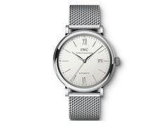 Described as being the 'epitome of good taste' the IWC Portofino range does a lot to justify that description. Its smooth, rounded polished steel case offers a classic watch shape with a stunning white face with sharp silver dials. The Milanaise Mesh brac Stainless Steel Types, Stainless Steel Bracelet, Gq, Esquire, Iwc Watches, Best Watches For Men, Automatic Watch, Watch Brands, Style