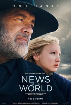 New trailer and poster for 'News of the World' starring Tom Hanks, directed by Paul Greengrass and based on Paulette Jiles' novel. David Fincher, Sean Connery, World Movies, New Movies, Oscar, Black Widow, Ray Mckinnon, Elizabeth Marvel, Movies