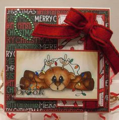 Tangled Lights Reindeer by Aucrazy - Cards and Paper Crafts at Splitcoaststampers