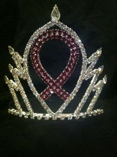 pink ribbon crown