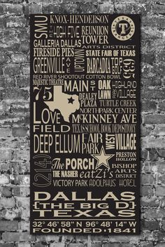 Love this!!    Dallas Destinations Personalized Typography Art.