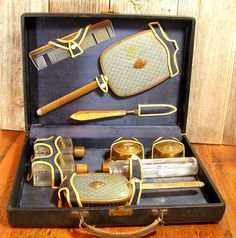 vintage Travel Vanity Case