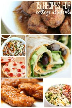 15 Recipes for College Students from SixSistersStuff.com | These recipes are our favorite fast and easy, budget friendly, recipes that are perfect for busy college students or families! You could easily cut these meals and ingredients in half, or freeze the leftovers and eat another day.