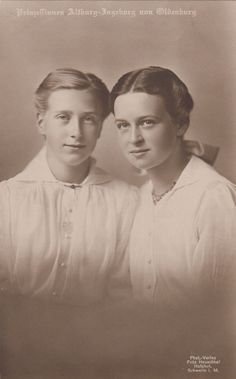 Princesses Altburg and Ingeborg of Oldenburg, where my ancestors came from.