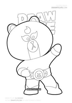 How to draw El Brown Star Coloring Pages, Coloring Pages For Boys, Coloring Books, Blow Stars, Super Easy Drawings, Skin Drawing, Cute Kawaii Drawings, Star Art, Dragon Ball Gt