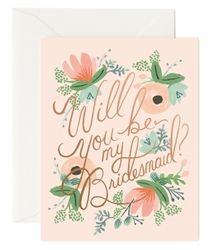 Rifle Paper Co. Blushing Bridesmaid cards designed by Anna Bond Anna Bond, Bridesmaid Cards, Rifle Paper Co, Wedding Stationery, Blush, Valentines, Design, Blusher Brush, Valentines Diy