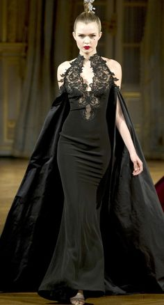 Alexis Mabille Fall 2012 Cool maybe for the evil character in a movie  :)