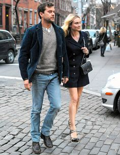Joshua Jackson and Diane Kruger headed for a dinner date in Manhattans West Village March 26.