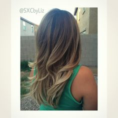 Beautifully blended balayage ombre. Beige blonde. Cool tones! @SXCbyLiz