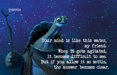 10 Awesome Lines From Kung Fu Panda That Will Definitely Cheer You Up Best Movie Quotes, Disney Movie Quotes, Inspirational Quotes About Success, Positive Quotes, Reality Quotes, Life Quotes, Qoutes, Kung Fu Panda Quotes, Master Oogway