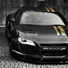 This dark Audi R8 razor reminded me of an Ascari #sexy #sexonwheels