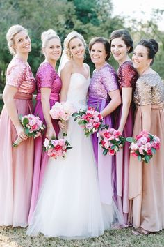Festive & Colourful Winter Wedding at Orchards by Bright Girl Two Piece Bridesmaid Dresses, Bridesmaids, Wedding Dresses, Bridesmaid Inspiration, Wedding Inspiration, Wedding Ideas, Winter Colors, Winter Dresses, Bellisima
