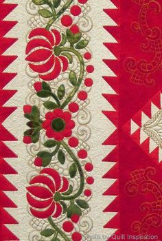 """With its pure, vibrant, red tones, here's one of the most """"Christmasy"""" quilts we saw at the 2013 Houston International Quilt Show .   Memor..."""